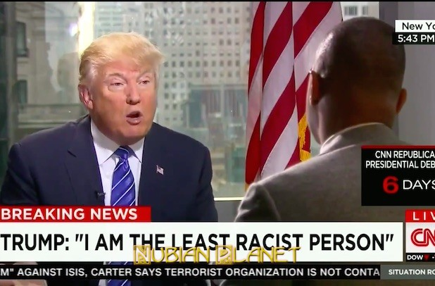 Trump lemon explains he is least racist person