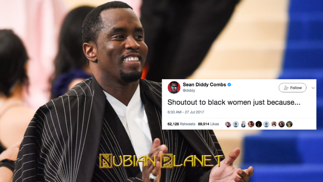 diddy gives shot out to black women twitter beef with white people