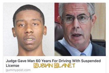 Racist Judge Gave Man Years For Driving With Suspended License