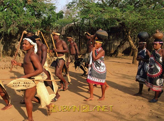 african warriors with spears africa
