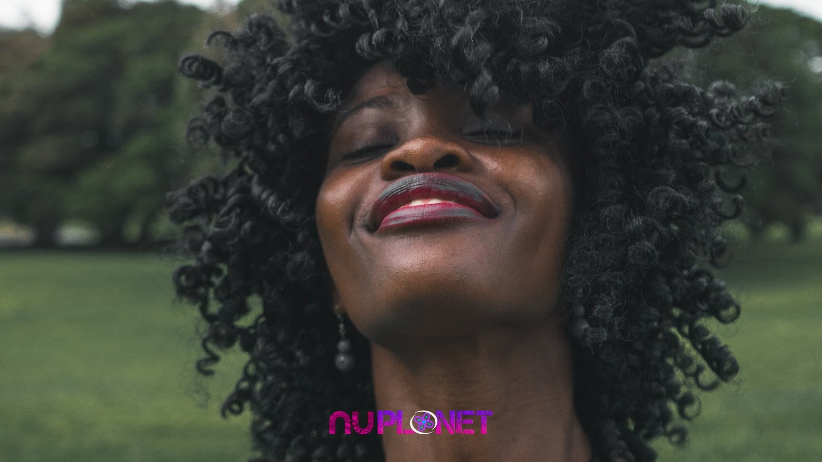 beautiful black woman natural hair happiness celebration