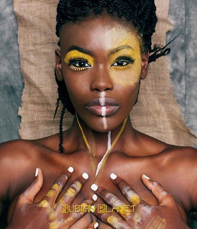 most beautiful black woman african face paint