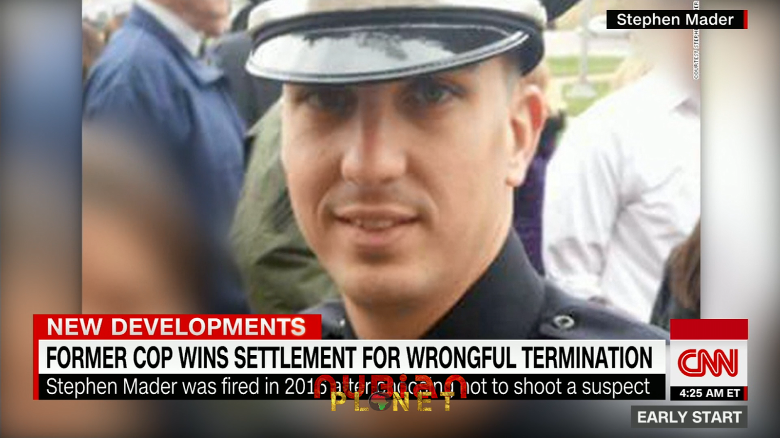 Stephen Mader officer fired for not shooting a black man
